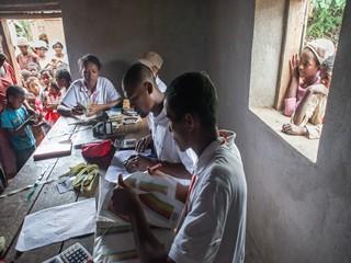 banco registrazione visite nutrizionali nei villaggi